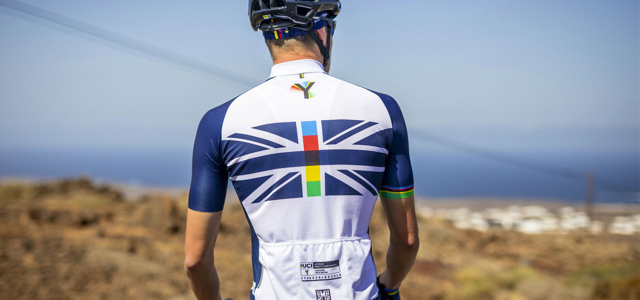 By Santini UCI Rainbow Story T-Shirt in Blue