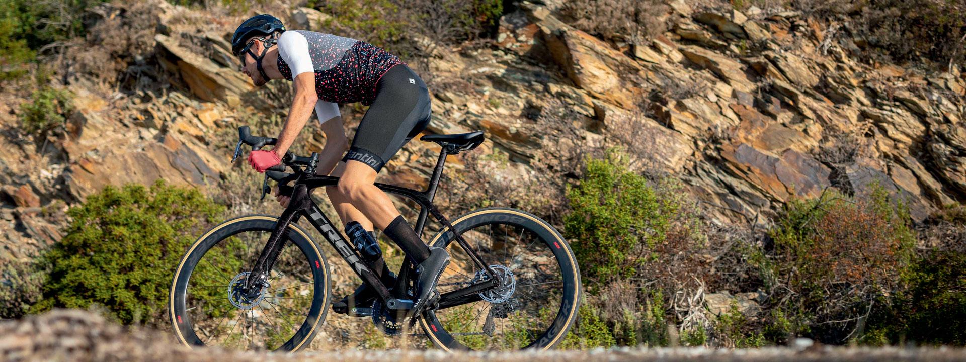 Santini Karma Mille Cycling Bib Shorts in Winery GITevo Pad